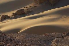Des hights du désert de Faiyum photographie stock libre de droits