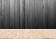 Des Hintergrundabstrakten begriffs der hölzernen Wände hölzerner Balkon-ähnlicher dunkler Art-Ideeninnenraum, außen Lizenzfreies Stockbild