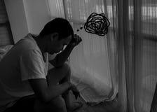 Des hommes sont soumis ? une contrainte photographie stock libre de droits