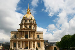 des-hotellinvalides l national paris Royaltyfria Foton