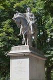 DES i Vosgi Parigi Francia della statua del Louis XIII sul posto Fotografie Stock Libere da Diritti