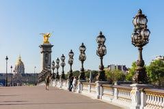DES Invalides, Parigi, Francia del ponte & dell'hotel di Pont Alexandre III Fotografia Stock Libera da Diritti