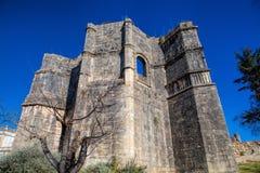 Des 12. Jahrhundertstemplar-Kirche am Kloster von Christus in Tomar- Lizenzfreie Stockbilder