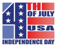 4. des Juli-Unabhängigkeits-Tagesdesigns Stockfotografie