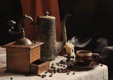 Des Kaffees Leben noch Stockfotografie