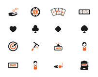 Des Kasinos Ikonen einfach Lizenzfreies Stockbild