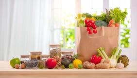 Des Kochens, kulinarischen und des Lebensmittels Konzept der Vollkost, stockfotografie