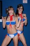 Des La-La führen an in-speichern das Kennzeichnen durch Tonya Kay (www.tonyakay.com) für ihre neue Ausgabe Tarot durch: Hexe der s Stockfotos