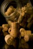 Des lièges de vin et de champagne Image stock