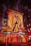 DES Lumières - Lyon de Fête - ateie fogo à roda Fotografia de Stock