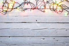 Des lumières de Noël sont allumées Images stock
