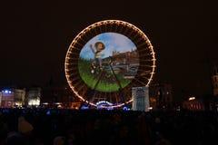 祝宴des Lumieres 2014年 库存照片
