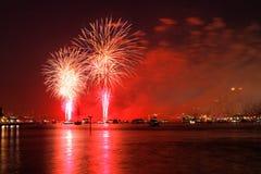 Des Macys 4. der Juli-Feuerwerkbildschirmanzeigen Stockfoto