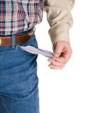 Des mains - a cassé le cowboy Image stock