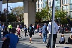 Des Marathons Stadt Vancouver unten Lizenzfreie Stockfotografie