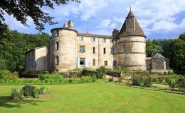 DES Martinanches del castillo francés Fotos de archivo