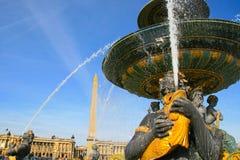 DES Mers de Fontaine chez Place de la Concorde à Paris Photos libres de droits