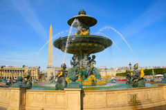 DES Mers de Fontaine chez Place de la Concorde à Paris Photographie stock libre de droits