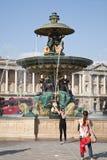 DES Mers de Fontaine en la plaza de la Concordia en París fotografía de archivo libre de regalías