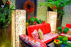 Des meubles à la maison modernes de patio Image libre de droits