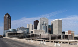 Des Moines. A view of downtown Des Moines Iowa Royalty Free Stock Photos