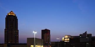 Des Moines avant lever de soleil Images libres de droits