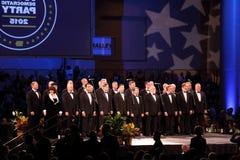 Des Moines bögars sjunga för kör royaltyfria bilder