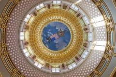 Des Moines, Iowa - bâtiment de capitol d'état d'intérieur Images libres de droits