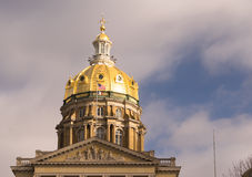 Des Moines Iowa Capital Building Government Dome Architecture Royalty Free Stock Photo