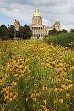 Des Moines, Iowa - de Bouw van het Capitool van de Staat stock afbeelding