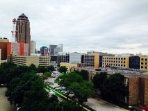 Des Moines Iowa. Downtown skyline stock photo