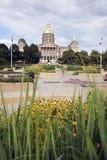 Des Moines, Iowa - edifício do Capitólio do estado fotografia de stock