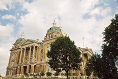 Des Moines, Iowa - edifício do Capitólio do estado fotos de stock royalty free