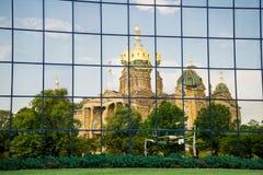 Des Moines Iowa het Capitool van de Staat Stock Foto