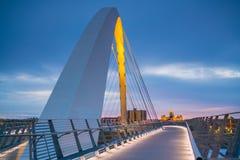 Des Moines Iowa horisont i USA royaltyfria foton