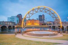Des Moines Iowa linia horyzontu w usa obrazy stock