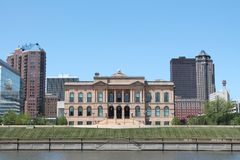 Des Moines Iowa Skyline Stock Photos