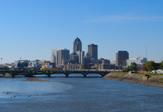 Des Moines Iowa skyline Royalty Free Stock Photos