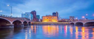 Des Moines Iowa skyline in USA. United States stock photo