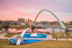 Des Moines Iowa skyline in USA. United States royalty free stock images