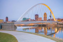 Des Moines Iowa skyline in USA. United States stock photos