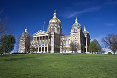 Des Moines, Iowa - State Capitol stock image