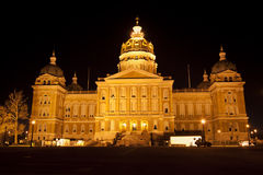 Des Moines, Iowa - State Capitol Building stock photos