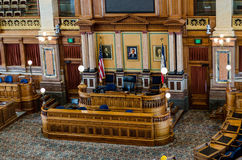 Des Moines Iowa State Capitol Senate Room Royalty Free Stock Photography