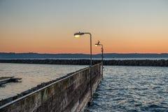 Des Moines Marina Sunset Imagen de archivo