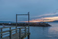 Des Moines Marina Sunset Foto de archivo