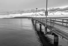 Des Moines Pier Landscape Stockbild