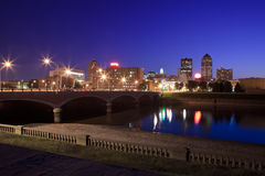 Des Moines Skyline. Skyline of Des Moines, Iowa at twilight Stock Photography