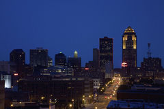 Des Moines skyline Royalty Free Stock Images