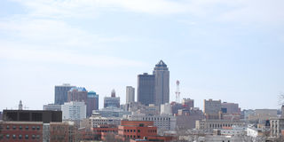 Des Moines skyline. Afternoon view of Des Moines skyline Stock Photos
